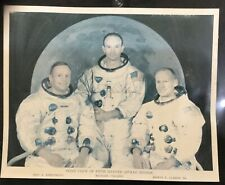 Vintage APOLLO CREW (5th Manned Mission) photo with AUTOGRAPH of Michael Collins