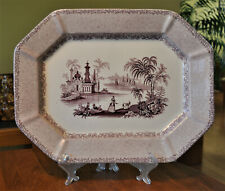 Lovely Antique Staffordshire Transferware Ironstone Platter J. Wedgwood Brussels