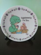 "1995 Precious Moments ""Eggspecially for You"" Plate with Stand"