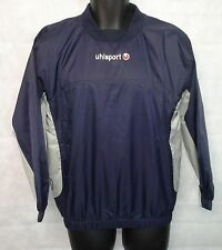 Mens Uhlsport Training Windbreaker Top Brand New Navy/Grey Size Small  #4101
