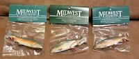 LOT OF 3 SALMON FISH ORNAMENT, Fish Christmas Ornament Midwest of Cannon Falls