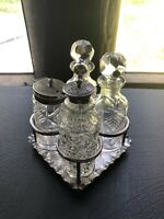 Silver Plated Cruet Set A. Saunders Sydney James Dixon & Sons Cruet Set