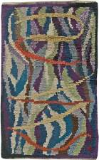 Vintage Swedish Purple, Blue, Green and Yellow Rya Wool Rug BB5683