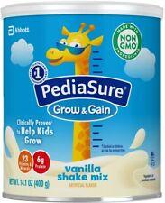 PediaSure Grow & Gain Non-GMO & Gluten-Free Shake Mix Powder, vanilla, 6 pack