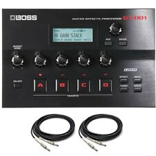 BOSS GT-001 Desktop Guitar Amp Modeling Effects Processor USB Interface + Cables