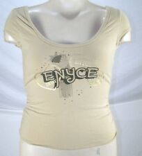 Enyce Jeans Beige Cap Sleeve Knit Top Juniors Size Large 11 13