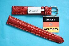 BRACELET DE MONTRE 16mm Lézard Teju estampage Maroon de Kaufmann MADE IN GERMANY