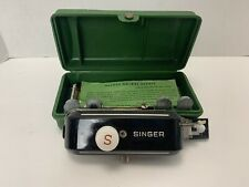 Vintage SInger Buttonholer with Original Green Care And Attachments **Great Find