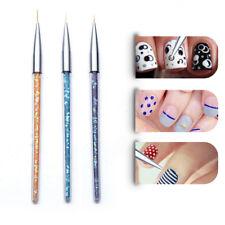 3 Pcs Nail Art Pens Lines Drawing Painting Slim Brush Pen DIY Manicure Tool Set