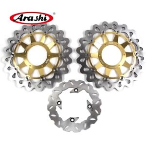 For HONDA CBR1000RR 2006 2007 CBR 1000 RR Front Rear Brake Disc Rotors Set Gold