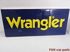 """Werbeschild """"Wrangler"""" Kunststoffblende Blechrückwand DEKO (ca.70 x 30 x 4,5 cm)"""
