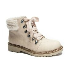 CASBAH CREAM LACE-UP ANKLE BOOTS DIRTY LAUNDRY sz 9.5