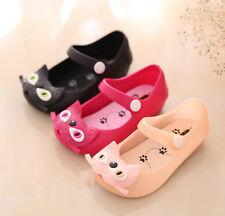 Summer Toddler Cartoon Cat Sandals Jelly Kids Girls Child Infant Soft Shoes Size