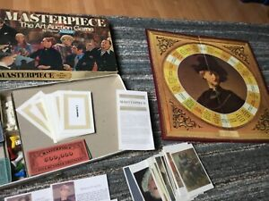 MASTERPIECE BOARD GAME BY PARKER VINTAGE  (box is bad condition) 1970