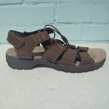 Clarks Sandals Size UK 9 Eur 43 G  Mens Wide Brown Straps Active Air Sandal