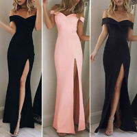 Fashion Women's Off Shoulder Casual Long Maxi Evening Party Cocktail Beach#Dress