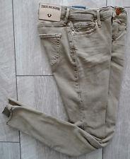 TRUE RELIGION Jeans HALLE MID RISE SUPER SKINNY Damen Jeanshose Beige Gr.28 NEU