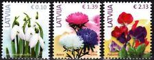 LATVIA 2019-20 FLORA: Definitive - Flowers. Issue #2, reprints 3v, MNH