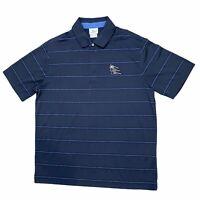 Lacoste Sport 1/4 Zip Short Sleeve Polo Shirt Men's Size 6 (measures Large) Blue