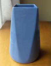 Alamo Pottery Iris Blue #718 flower vase~San Antonio Texas~pristine-NR