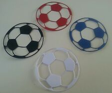 10 Mix Couleur Football Carte Toppers. Fabrication Carte Scrap booking Craft