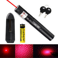 5mW 100Miles 650nm 303 Red Lazer Pointer Pen Visible Beam Light +Battery+Charger