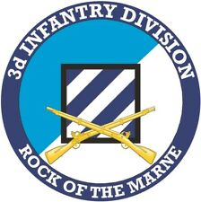 3rd Infantry Division with Crossed Rifles Decal Officially Licensed