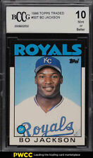 1986 Topps Traded Bo Jackson ROOKIE RC #50T BCCG 10 (PWCC)