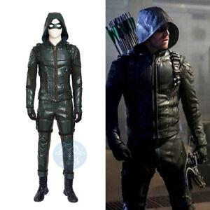 DC Green Arrow 5 Oliver Queen Cosplay Costume Custom Made Full Set Fighting Men