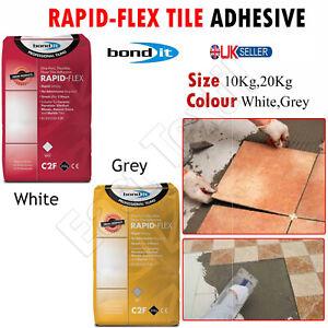10/20kg Rapid-Flex Tile Adhesive Rapid Setting Floor Wall Ceramic White & Grey