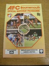17/09/1988 Bournemouth v Leeds United  . Thanks for viewing this item, buy in co