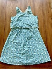 Old Navy Girl's Blue & Green Fully Lined Cotton Patterned Sun Dress Size XL 14