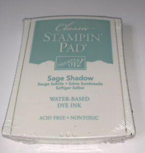 New Sealed Stampin Up Classic Stamp Pad Sage Shadow Green