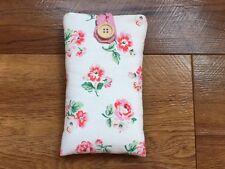 Handmade In Cath Kidston White Ashdown Rose - iPhone 5 5S 5C SE Fabric Case