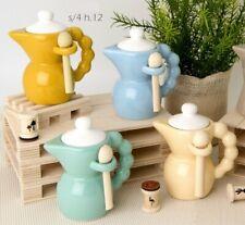 Bomboniere Matrimonio Zuccheriera forma moka ceramica manico bolli Ass 4 H 12