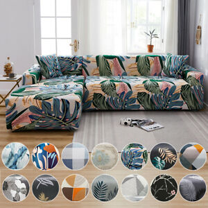 Sofa Covers Stretch Couch Lounge Chair Slipcover Protector L Shape 2 3 4 Seater