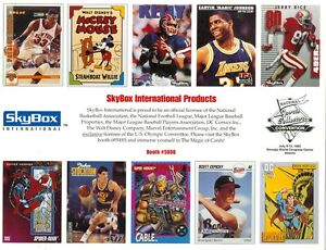 1992 Skybox Souvenir Sheet National Sports Collectors Convention: Jerry Rice