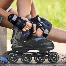 HOT! Breathable Inline Skates Roller Blades Adjustable Light up Wheels Adult/Kid