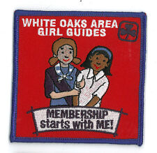 Girl Guide Scout Brownie BADGE PATCH – new! White Oaks Canada Membership 3.5""