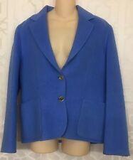 Celine Jacket Blue Wool Blend Gold Buttons Size 44 (US 12)