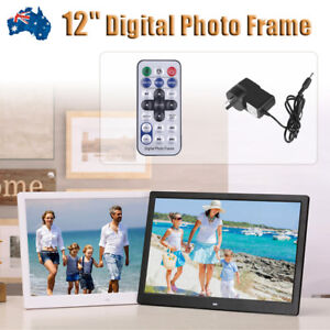 "12"" HD 1080P LED Digital Photo Frame Movie Player Video Remote Control Xmas Gift"