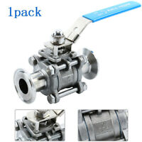 """SS304 1"""" Sanitary Ball Valve Fit 1.5""""  Tri Clamp Clover, Two Way & Three Piece"""