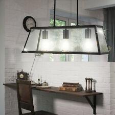Design Plafonnier Suspendu Lampe Bâton Éclairage Couloir Verre Lanterne Noir
