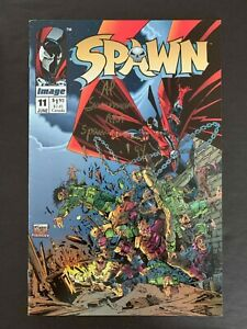 SPAWN #11 IMAGE COMICS 1993 VF SIGNED BY AL SIMMONS A.K.A. SPAWN, TODD MCFARLANE