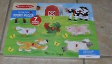 Melissa & Doug Sound Puzzle Farm Animals 7 Animal Sounds