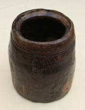 Antique rustic hard wood bowl vase