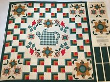 Old Country Store FABRIC PANEL For WALL HANGING Sunflower Garden Watering Can