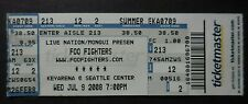 Foo Fighters Ticket Stub - Echoes, Silence, Patience & Grace Tour, Seattle 2008