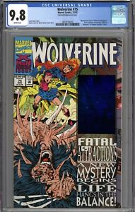 Wolverine #75 CGC 9.8 NM/MT Distorted Hologram on Cover Variant WHITE PAGES