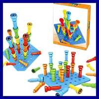 Motor Skills Toddlers Preschoolers 25 Rubber Tall-Stacker 8""